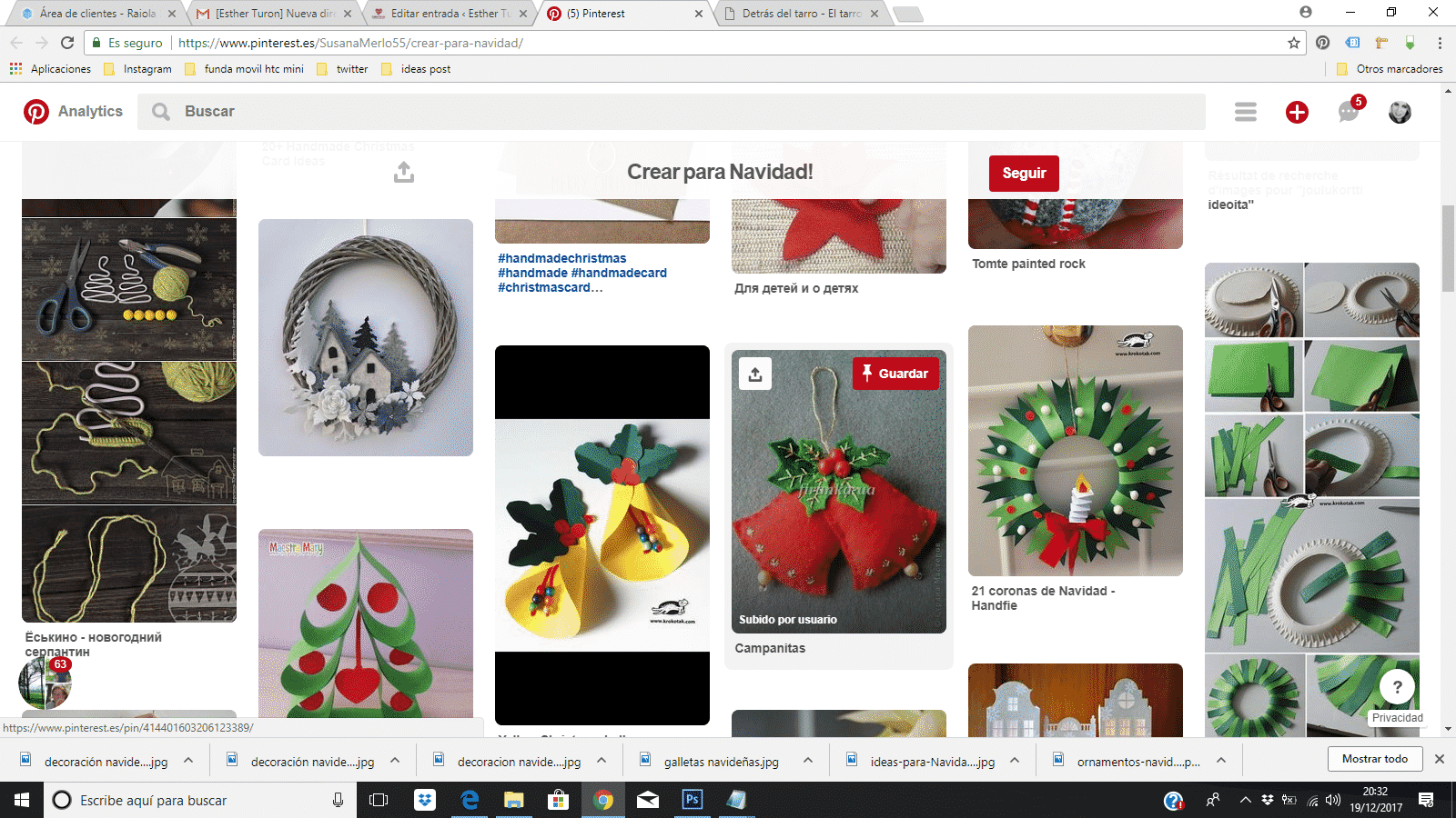 Crear para Navidad pinterest