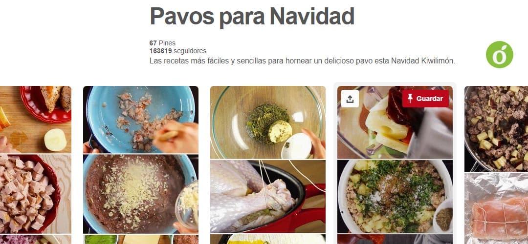 tablero pinterest pavos para navidad de kiwilimon