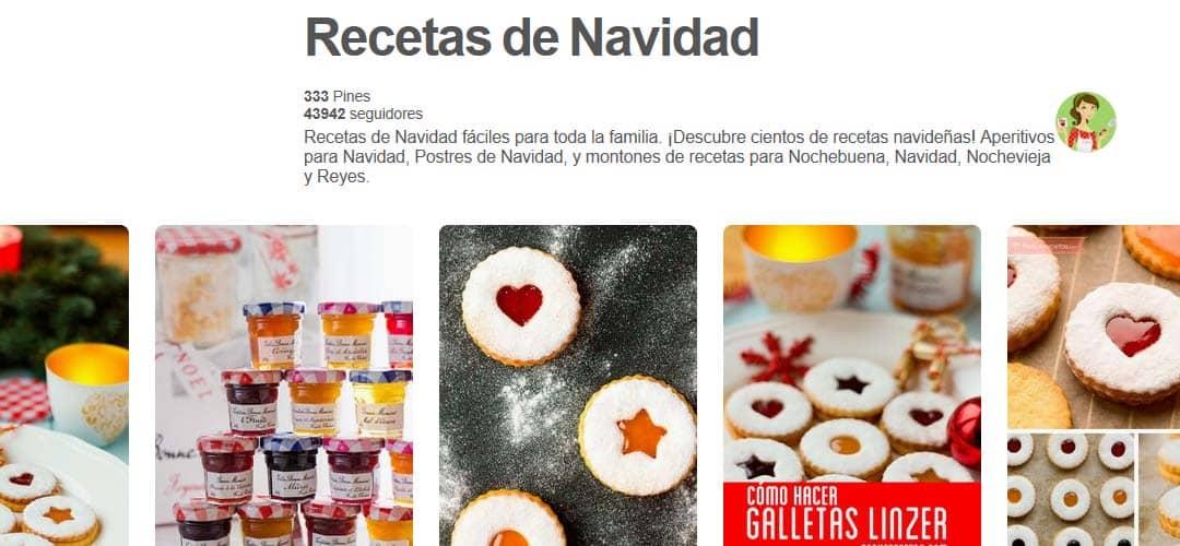 tablero pinterest recetas de navidad
