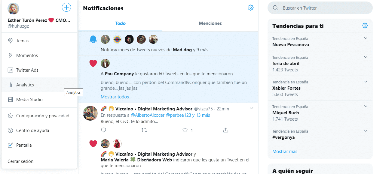 Twitter Analytics Esther Turon